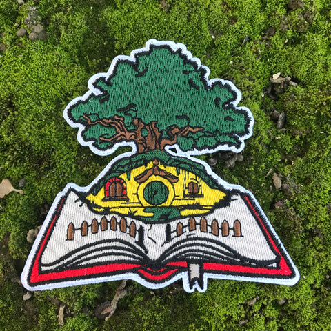 """The Pages of The Shire"" embroidered patch"