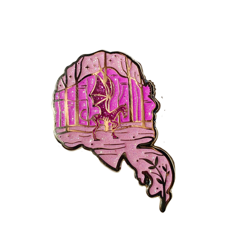 Phoenix Glitter Enamel Pin Collab with Ursa Major Supply