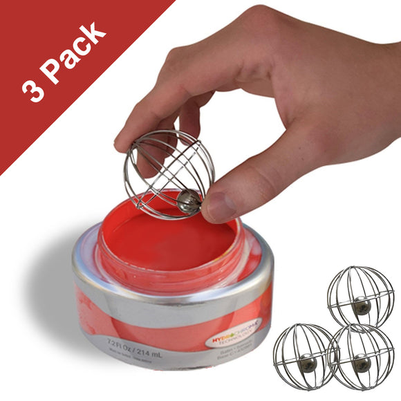 (3) Chalk Paint Whisk Balls to mix Chalk Paints, Metallic Paints, Milk Paint, & Ceramic Glazes & Stains (3-Pack)