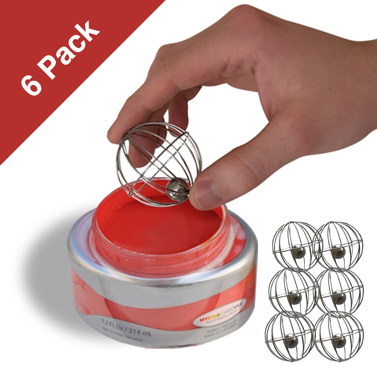 (6) Whisk Balls to mix Chalk Paint, Metallic Paints, Milk Paint, & Ceramic Glazes (6-Pack)