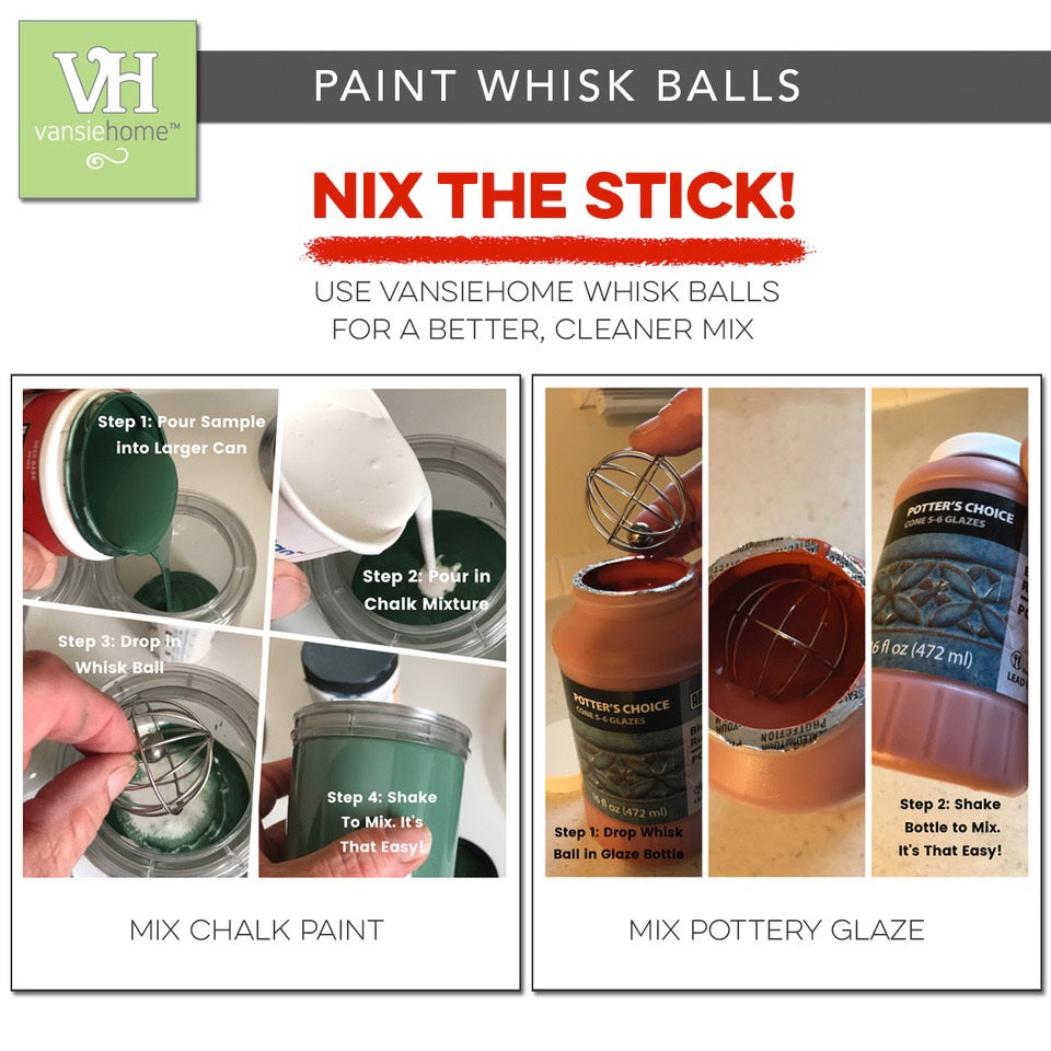 "Whisk Balls ""Drop-In"" Paint Mixers 