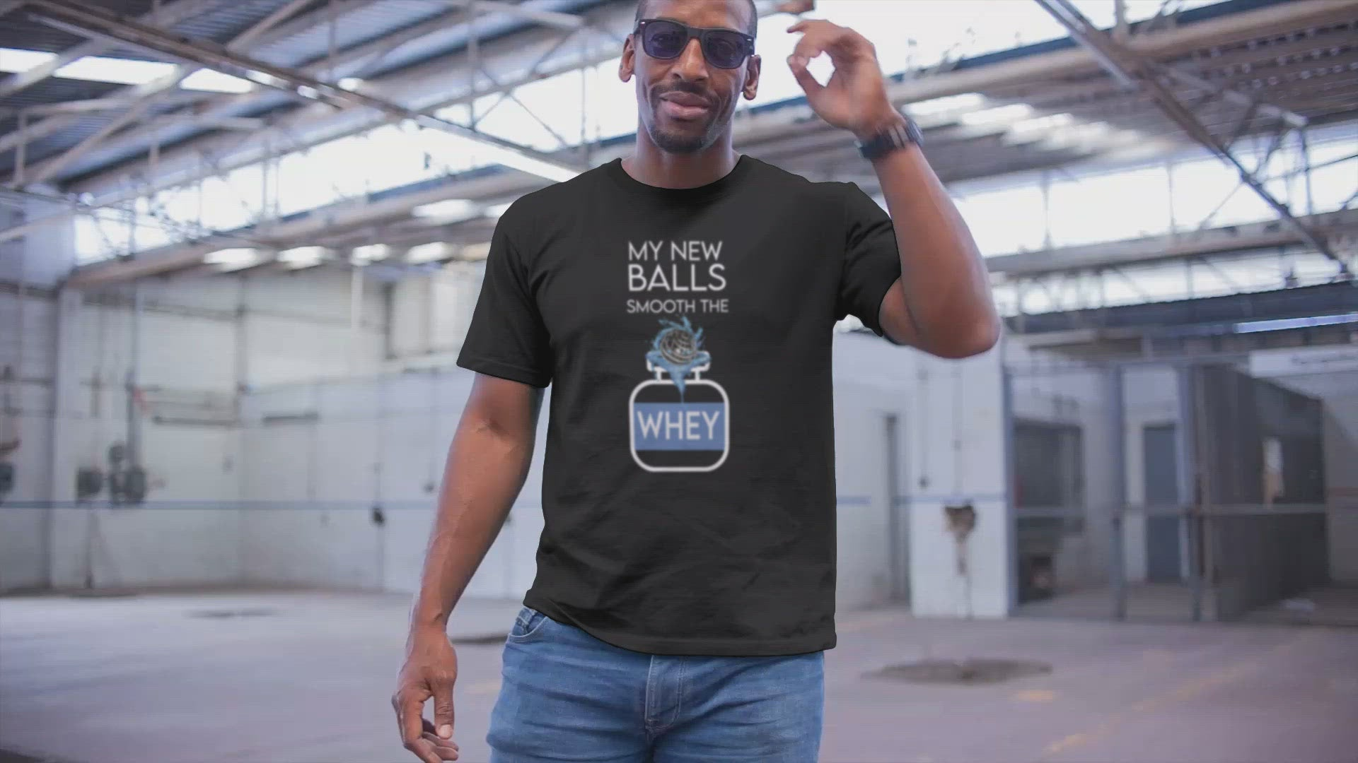 """MY NEW BALLS SMOOTH THE WHEY"" Unisex Classic Fit T-Shirt"