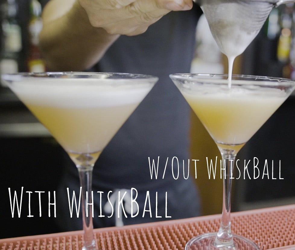 Miracle Mix-It Ball : Protein Shakes Without Clumps | Thicker Cocktail Foam