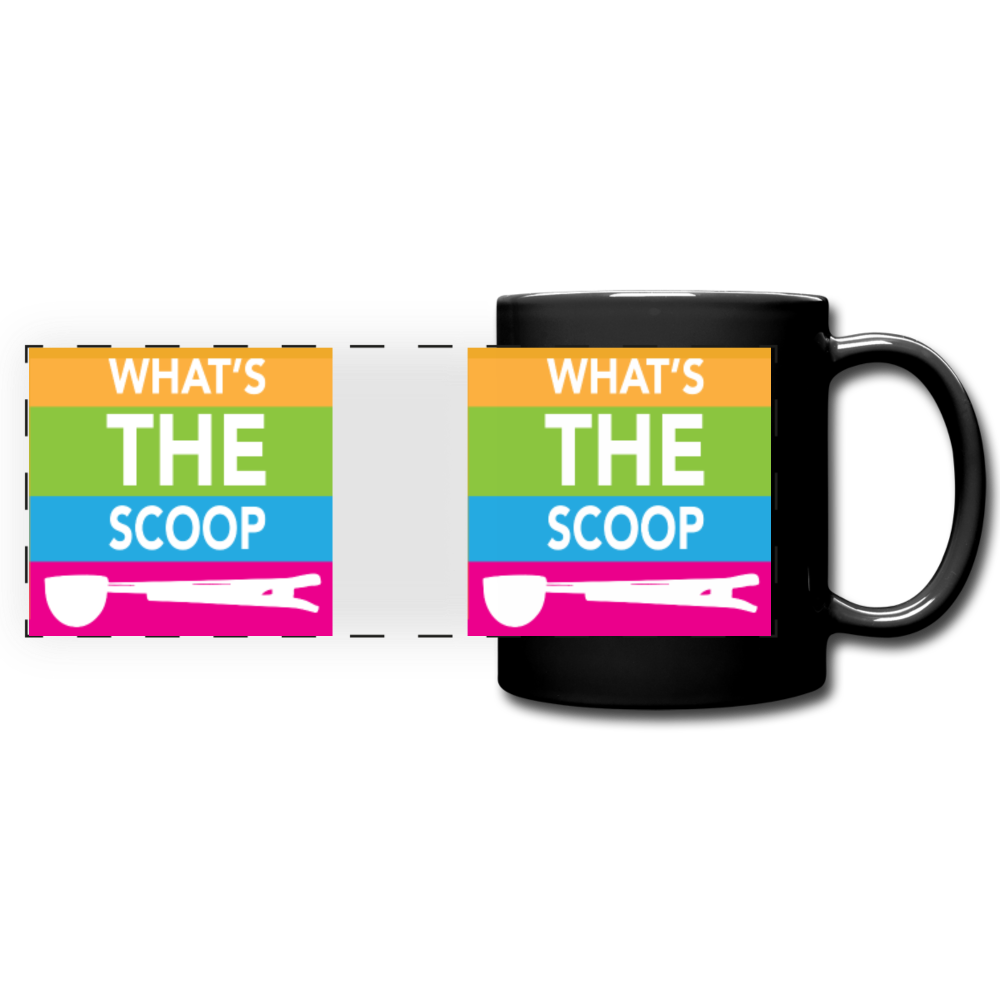 """WHAT'S THE SCOOP"" 11oz Mug - black"