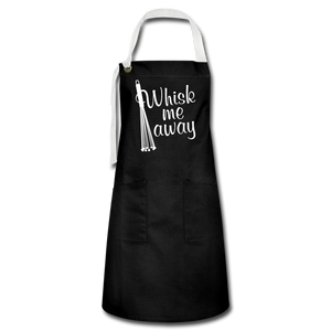 """WHSK ME AWAY!"" Premium 2-Pocket Artisan Apron - black/white"