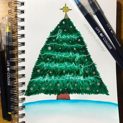 Christmas Watercolour Card Making ideas for your family