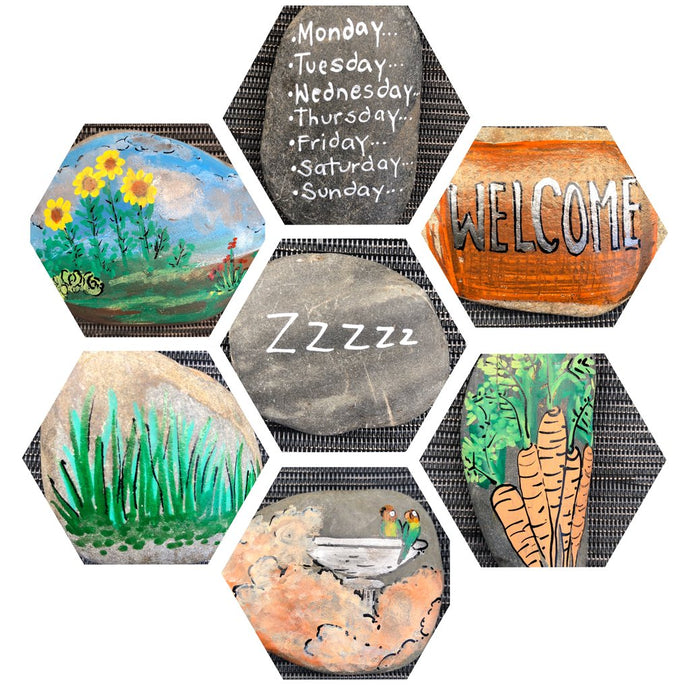 Create your first set of story stones using Life of Colour paint pens