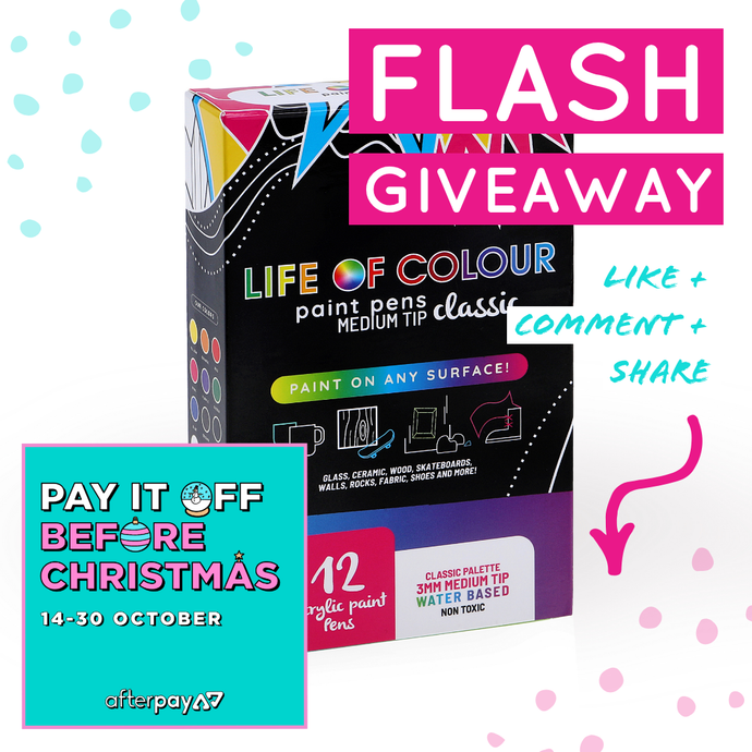 Winner: Flash Giveaway 14 October 2019.