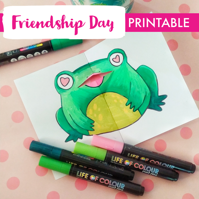 Friendship Day Frog Card Printable