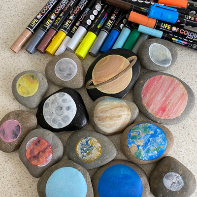 "How to paint ""Planets of the Solar System"" Rocks"