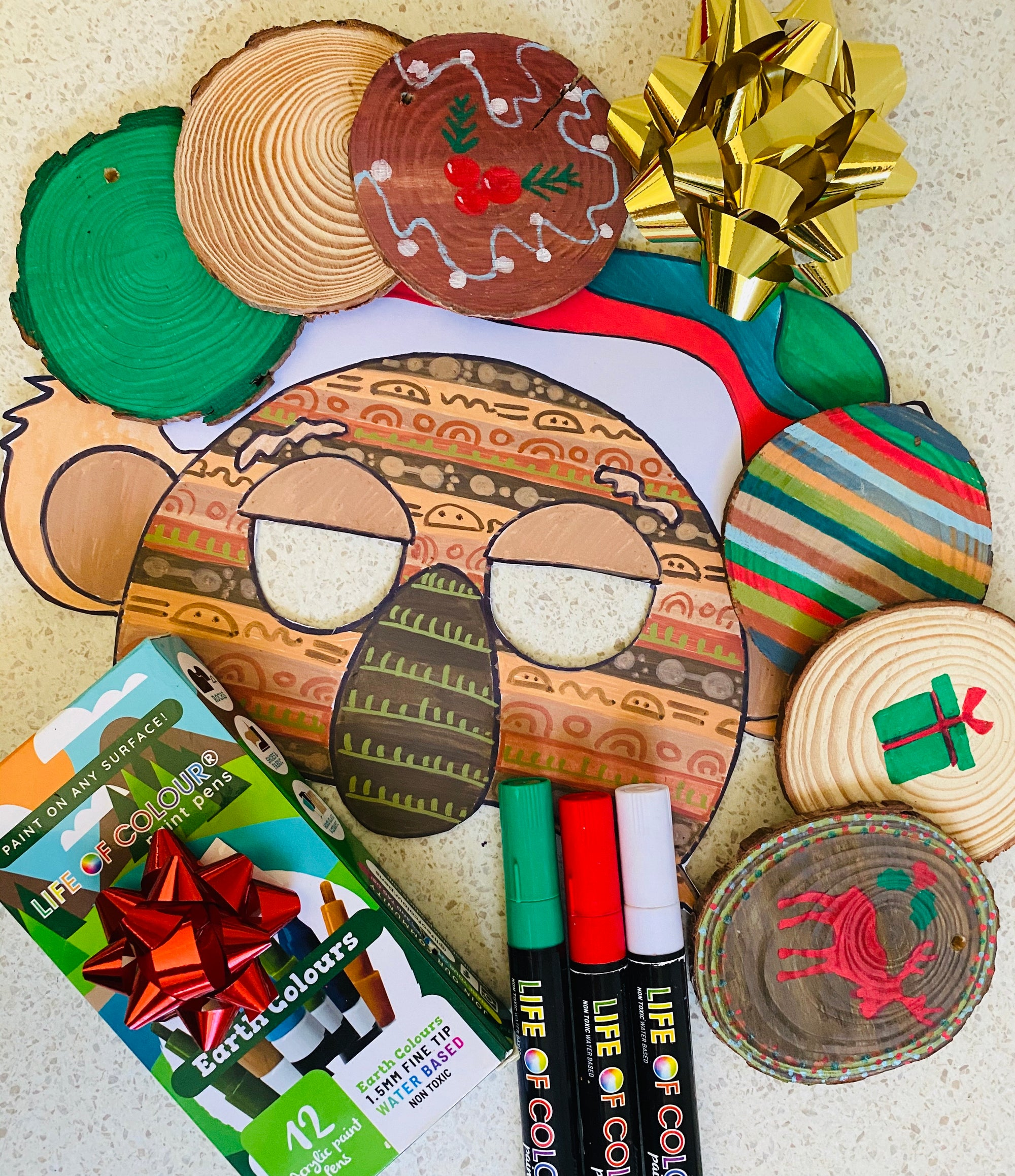 Ornament and Coasters Kit Activity Sheet