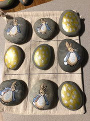Paint this Easter Tic Tac Toe on rocks