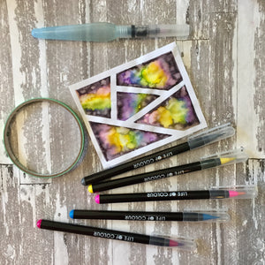 Geometric patterns with watercolour brush pens tutorial