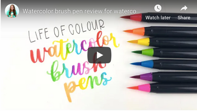 life of colour brush pens review on youtube