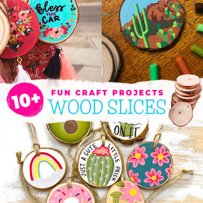 10+ fun craft projects to create with wood slices