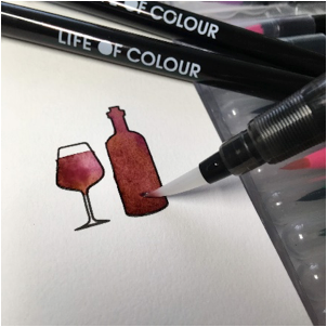 Blending with Life of Colour Watercolour Brush Pens