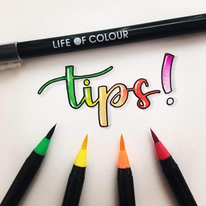 How to Letter with Life of Colour Watercolour Brush Pens by @letteringbykaren