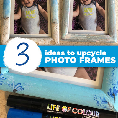 Freshen up a wooden picture frame to suit your decor