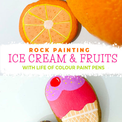 Ice Cream and Fruit Salad - Summer rocks step by step