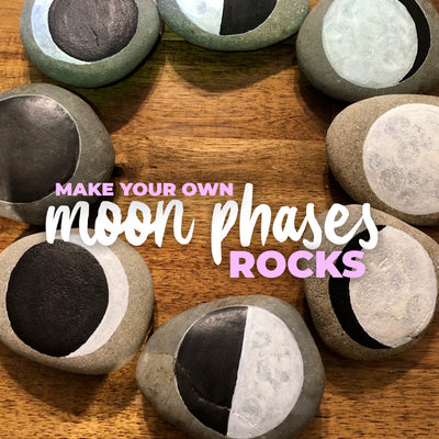Paint your own set of Moon Phases rocks