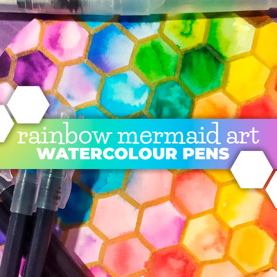 Mermaid Art using all the colours of the rainbow!
