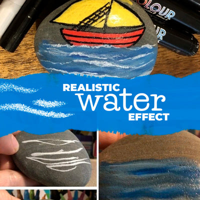 Realistic Water Effects using Life Of Colour paint pens