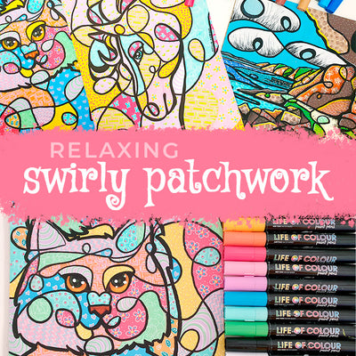 Relaxing Swirly Patchwork Art