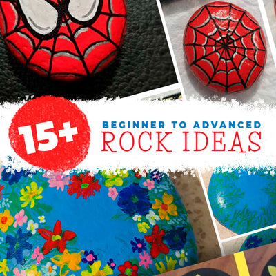 15+ Very easy rock painting tutorials, beginners to advanced