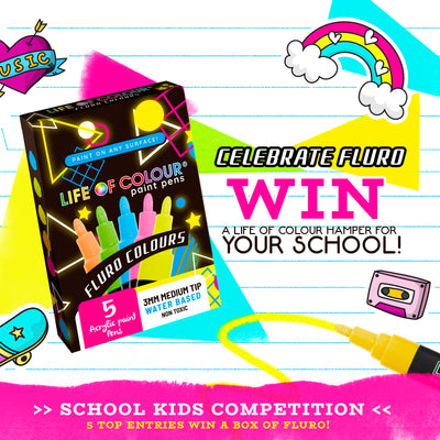 How to join our School Kids Competition - Celebrating Fluro!