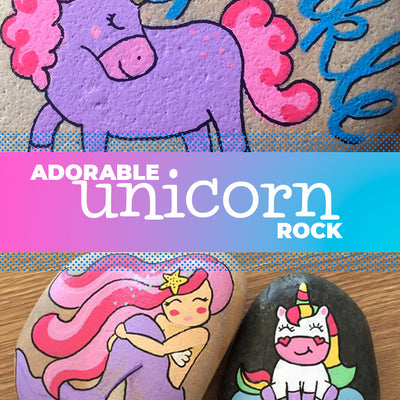 How to Paint a Unicorn on a Rock