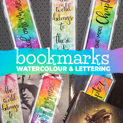 How to make a Bookmark with Watercolour Brush Pens