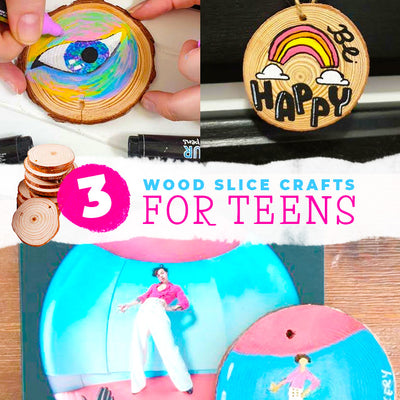 3 wood slice crafts for teens