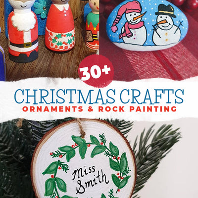 30+ wonderful Christmas crafts and painted rocks you'll love to make