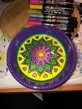 paint on plate with life of colour pens