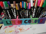 make an art supplies box with life of colour pens