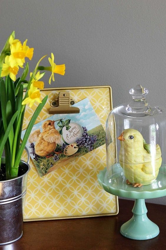Easter baby chick vignette by House of Hawthornes