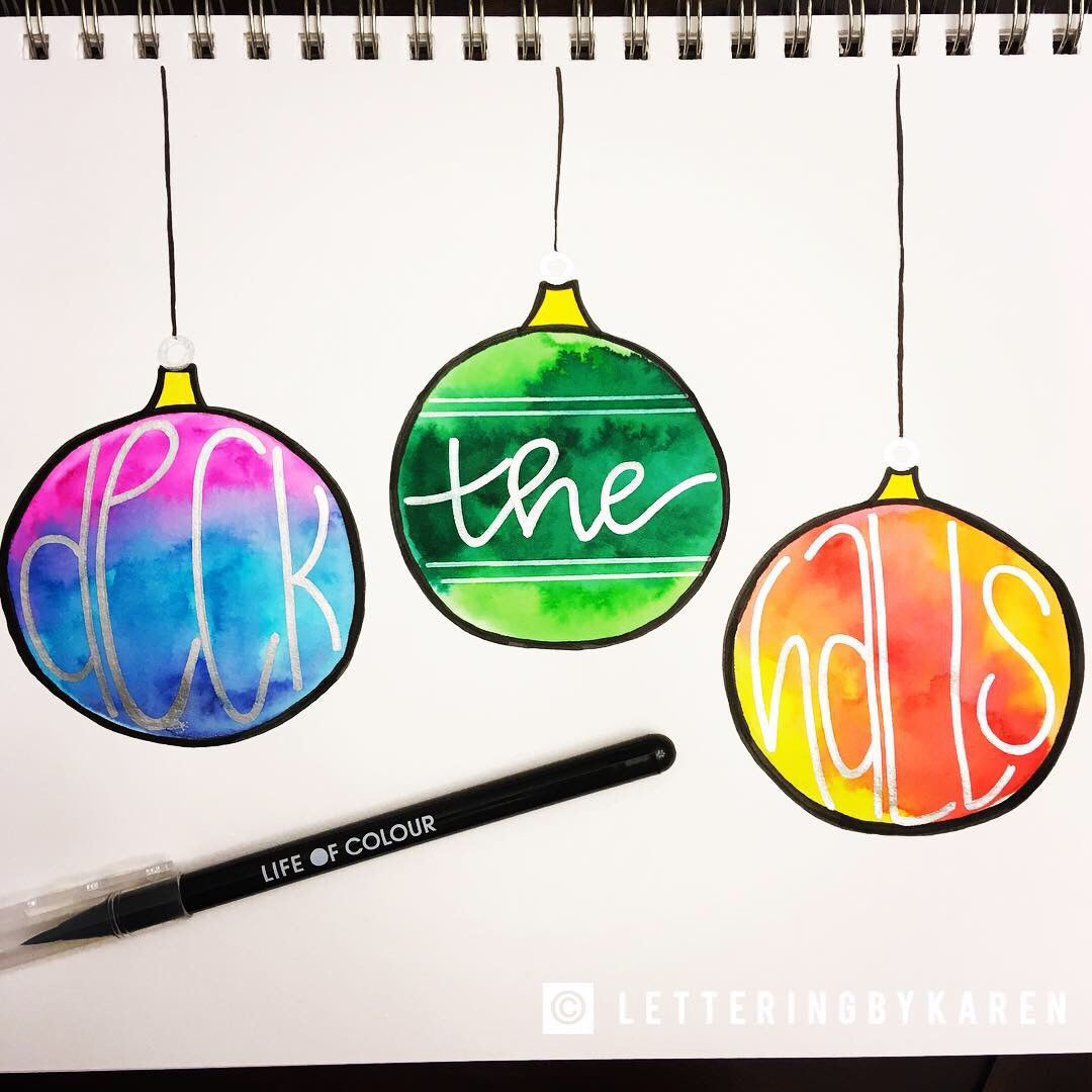 deck the halls christmas decorations using life of colour pens