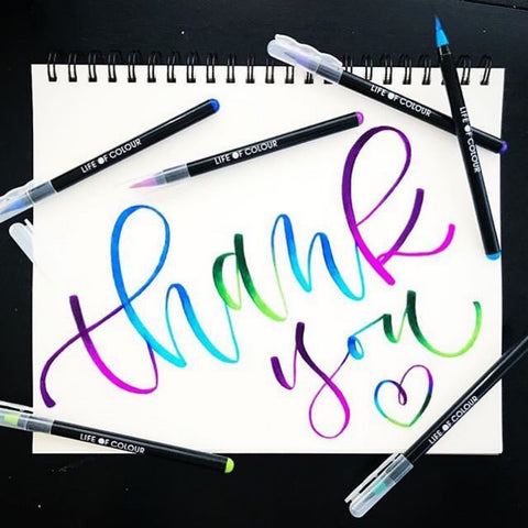 thank you brush lettering by @thewispydiary
