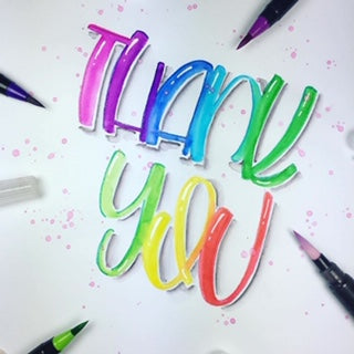 thank you brush lettering by @theprettinessproject