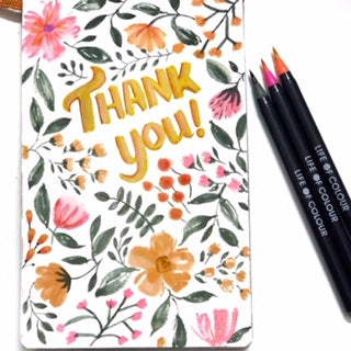 thanks you lettering with florals by @subhashini.artfactory