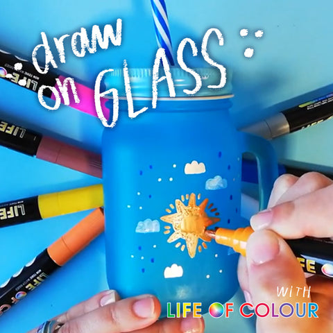draw on glass with life of colour paint pens