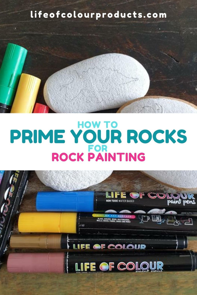 How to prime your rocks for rock painting