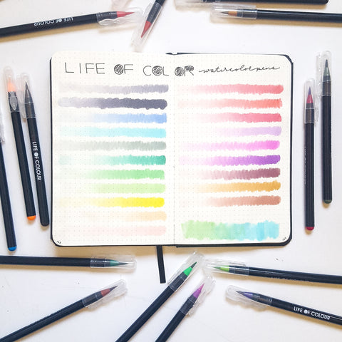 Life of Colour swatch in journal