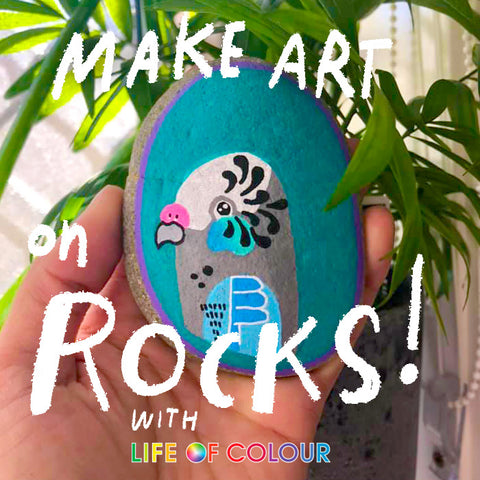 rock art with life of colour pens