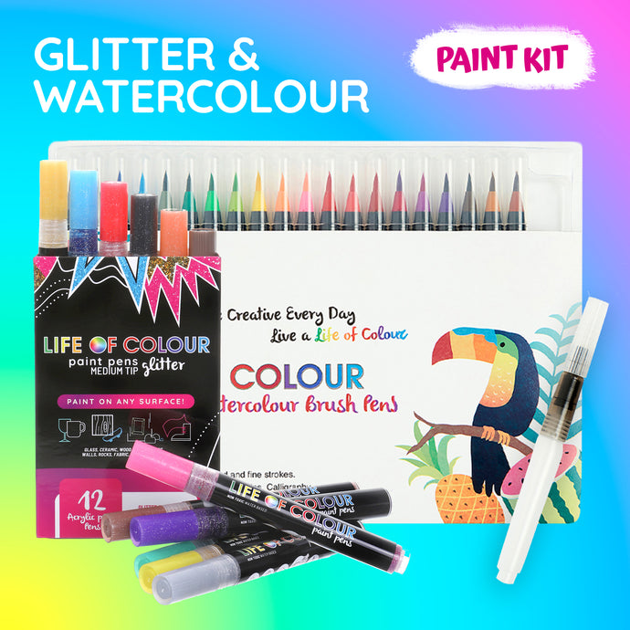 Glitter and Watercolour Paint Kit