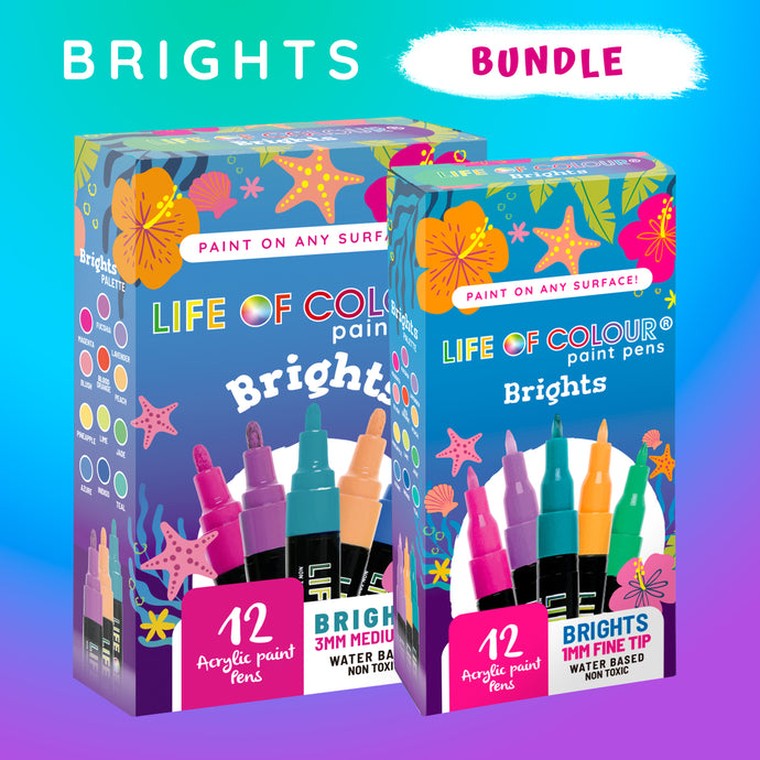 Bright Colours Paint Pens Bundle