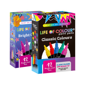 Life of Colour | Shop: Double Bundle: Any Two Paint Pen Sets | Australia and New Zealand