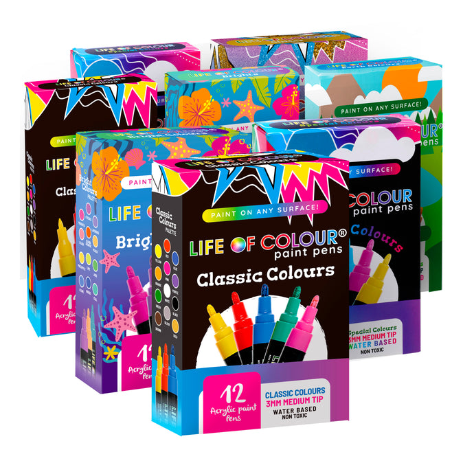 Full Monty Bundle - 8 Sets of Paint Pens