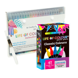 Life of Colour | Shop: Gift Pack Bundle: Any Paint Pens + Watercolour | Australia and New Zealand