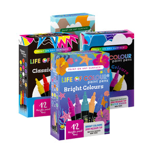 Life of Colour | Shop: Power Pack Bundle - 4 Sets of Paint Pens | Australia and New Zealand